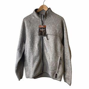J CREW Nordic full-zip grey jacket in Polartec®